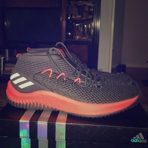 New Adidas DAME 4 Red & Black Basketball Shoes